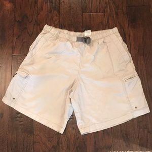 Men's Khaki Columbia Pull On Shorts